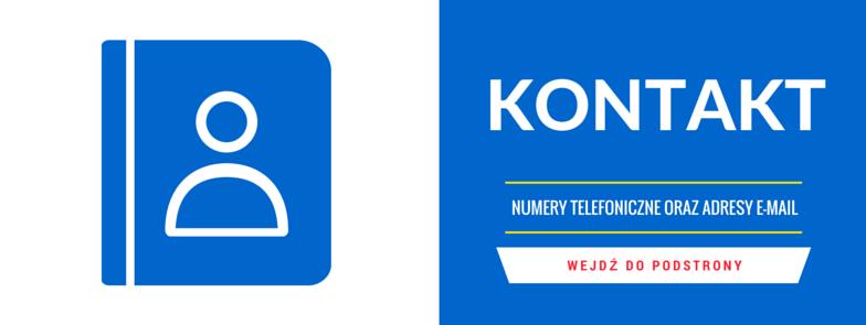 Numery telefoniczne orazadresy e-mail